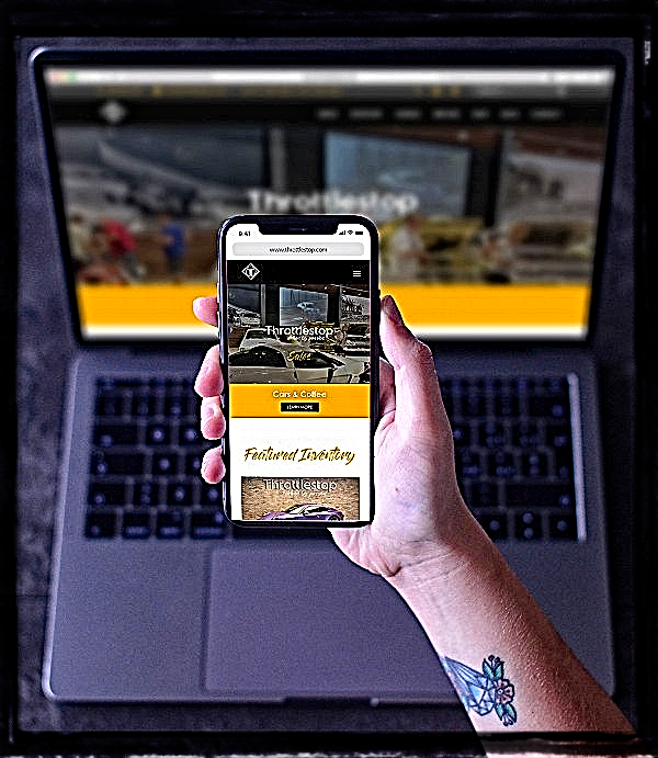 Sun Graphics Media website and app development team creates a CMS similar to WordPress. Photo of desktop and mobile website.